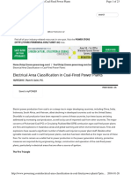 Electrical Area Classification in Coal-fired Power Plants