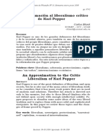 Una Aporiximación Al Liberalismo Critico de Popper