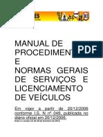 Detran ES Manual de Procedimentos Veiculos