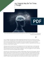 The Brain's Memory Capacity