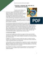 Aspectos Eticos y Legales Del Uso de La Informacion Digital