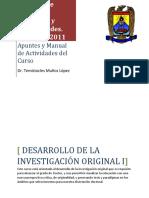 Manual de Actividades Del Curso de Investigación Original I