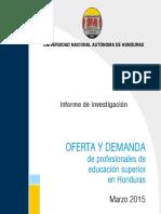 Oferta y Demanda de Profesionales de Educacion Superior