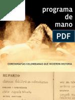 Programa de Mano Natalia Orozco