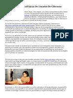 Características Sicológicas De Usuarios De Cibersexo