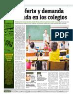 Oferta y demanda en colegios Peru
