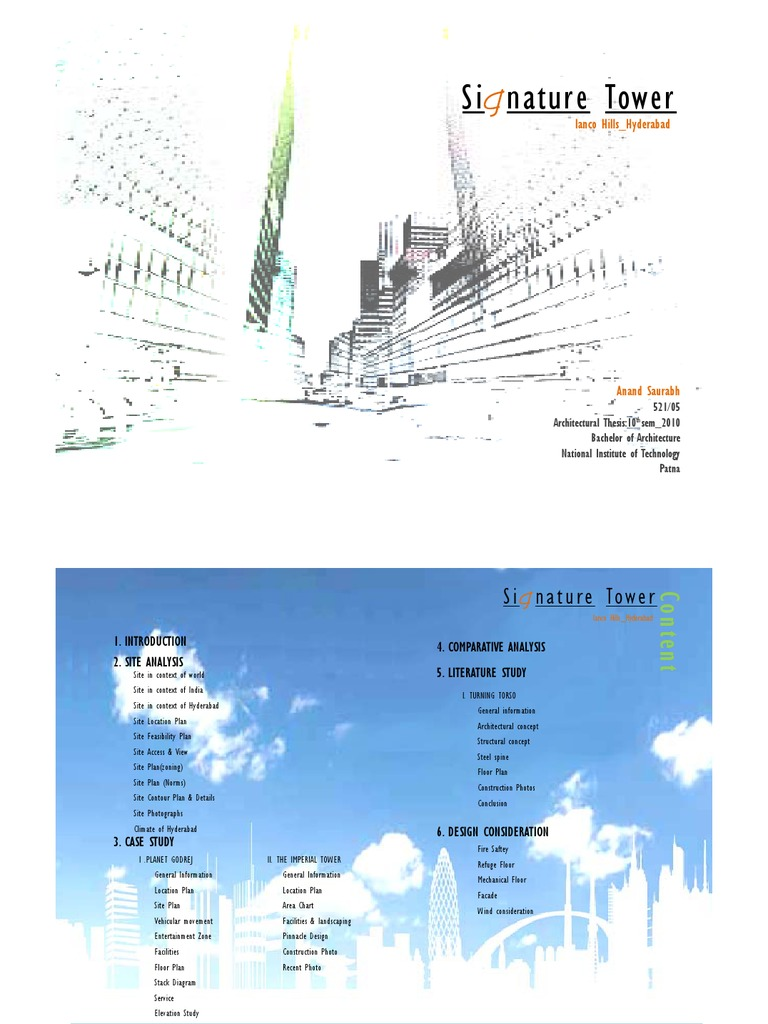 Signature Tower,Hyderabad,Literature n Case Study | Rain