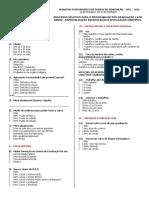 Edital Nº 001-2016 - Educação e Divulgação. Questionário Sócio Economico
