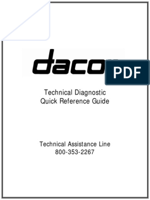 Dacor Tech  Diagnostic Quick Reference Guide | Grilling | Relay