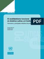 El Analfabetismo Funcional en América Latina y El Caribe Panorama y Principales Desafíos de Política