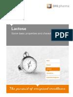Propriedades Básicas da Lactose