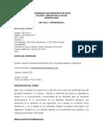Syllabus Ortodoncia II, 1er Semestre 2015-2016(Ago-dic 2015), Nuevo Formato