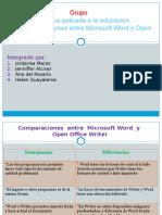 Comparaciones Entre Word y Writer