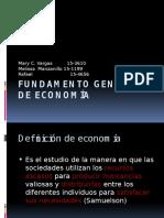 Fundamento General de Economía