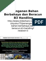 Penanganan Bahan Berbahaya Dan Beracun B3 Handling
