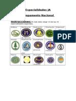 Especialidades JA Para Camp Nacional