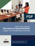 Manual Elecciones Juntas Vecinales Dirigido Municipalidades Distritales