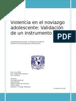 Violencia en El Noviazgo Adolescente. Validación de Un Instrumento
