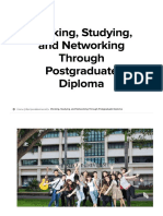 Working, Studying, And Networking Through Postgraduate Diploma