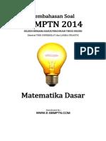Soal SBMPTN 2014 TKPA Matematika Dasar Dan Pembahasan Kode 652