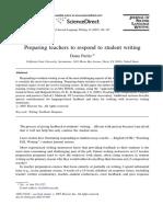 Preparing Teachers to Respond to Student Writing
