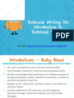 Technical Writing 101 Introduction to Technical Writing