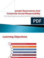 Corporate governance and CSR