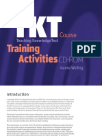 The Tkt Course Training Activities