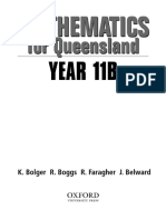 Mathematics For Queensland Year 11B