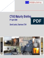 CTAS Maturity Briefing