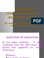 Lecture-mediation Baguio Gm
