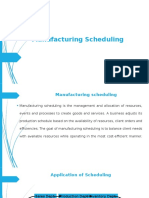 1.Manufacturing Scheduling