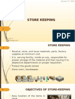 7.Store Keeping
