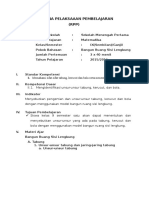 Rpp Kd 2.1 (Bangun Ruang Sisi Lengkung - Unsur-unsur)