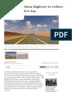 New Saudi-Oman Highway to Reduce Distance by 800 Km _ Arab News