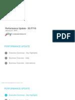 Performance Update [Company Update]
