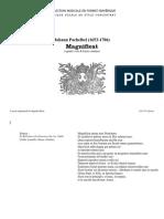 Magnificat (4 voix & bc) / Johann Pachelbel