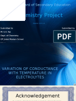 Chemistry Project Class 12 - Variation of conductance of electrolytes with temperature