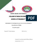 Drug Evaluation Monograph
