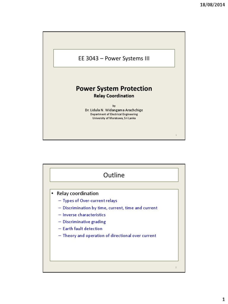 Overcurrent Protection Relays Relay Electrical Substation Basic Of Coordination