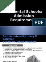 Top dental schools - admission requirements