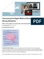 Choosing the Right Method Book for Teaching String Students