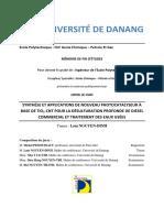 synthèse et application de nouveau photocatalyse à base de TiO2-CNT pour la désulfuration profonde de diesel comercial et traitement des eaux usées