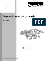 Manual Serra de Bancada Makita MLT100
