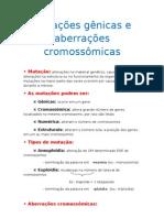 Mutação gênicas e aberrações cromossômicas PRA FRENTE