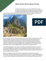Disponibilidad De Billete Machu Picchu Huayna Picchu Grupo 2