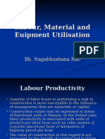 Labour, Material and Euipment Utilisation