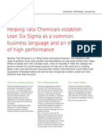 Lean Six Sigma as a Common Business Language and an Enabler of High Performance