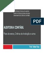 1 - Auditoria - Plano de Ensino