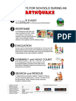 Earthquake Safety Tips for School